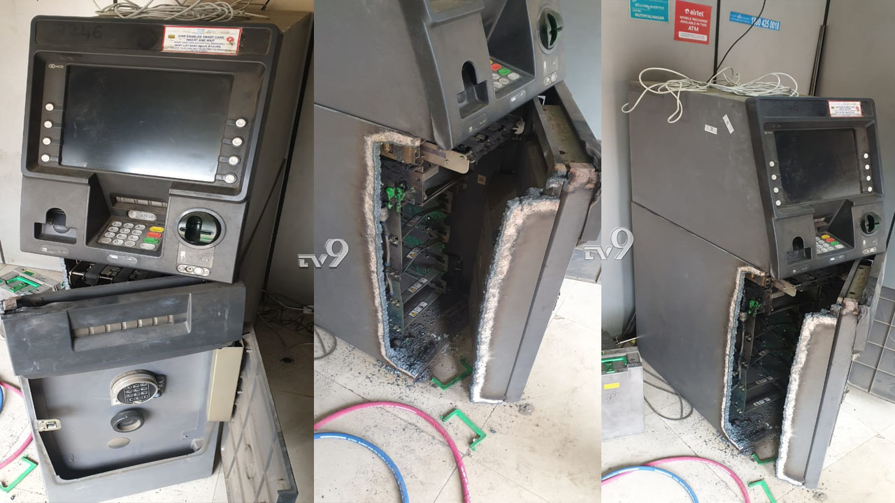 ATM ಒಡೆದು 27 ಲಕ್ಷ ರೂ. ದೋಚಿದ ಕಳ್ಳರು, ಎಲ್ಲಿ?