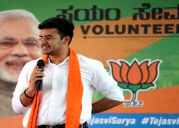 BJP ರಾಷ್ಟ್ರೀಯ ಯುವ ಮೋರ್ಚಾ ಅಧ್ಯಕ್ಷರಾಗಿ ಸಂಸದ ತೇಜಸ್ವಿ ಸೂರ್ಯ