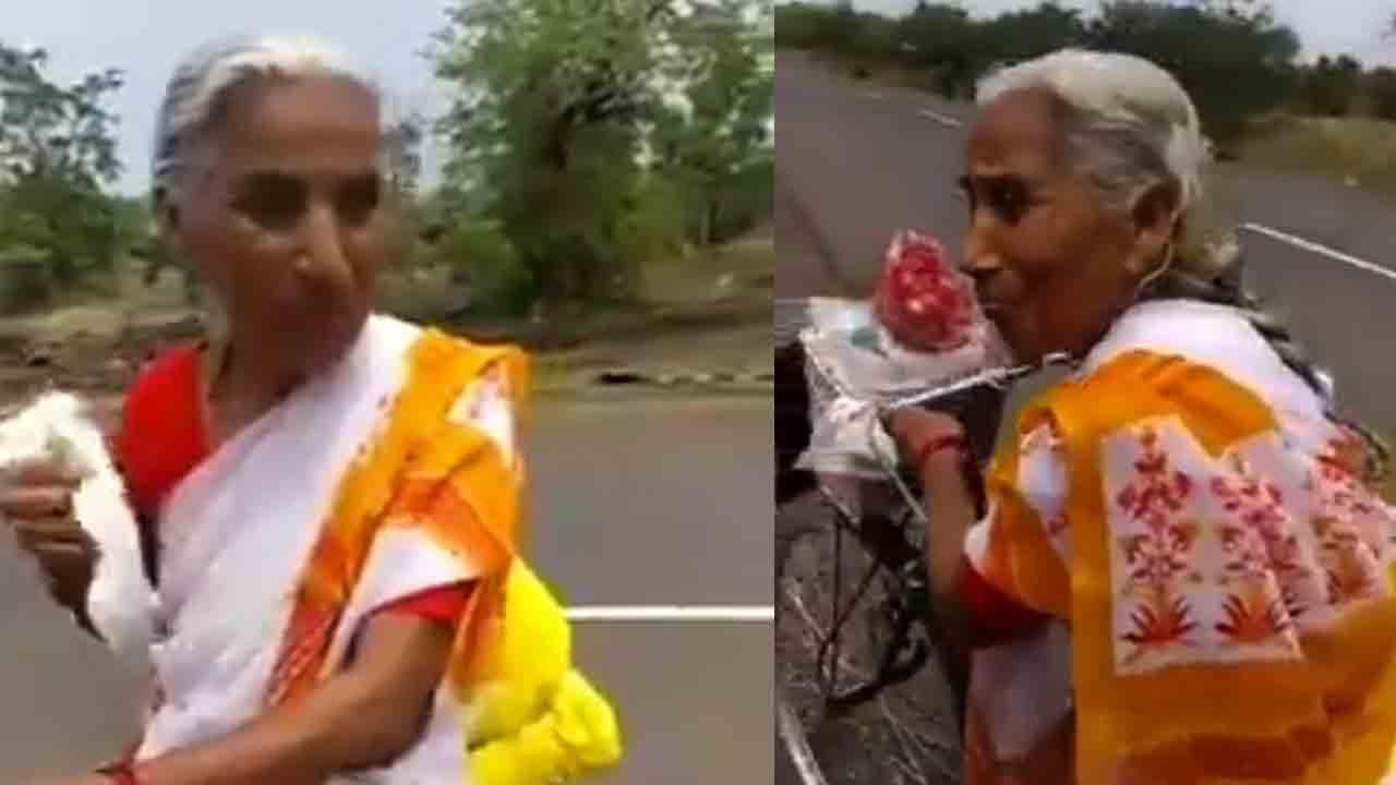 ಮಹಾರಾಷ್ಟ್ರ to ಜಮ್ಮು-ಕಾಶ್ಮೀರ: ವೈಷ್ಣೋದೇವಿಯ ಸನ್ನಿಧಾನಕ್ಕೆ ವೃದ್ಧೆಯ 'ಸೈಕಲ್'ಯಾತ್ರೆ!