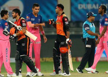 IPL 2020: RR VS SRH ಪಾಂಡೆ-ಶಂಕರ್ ಜೊತೆಯಾಟಕ್ಕೆ ತಲೆ ಬಾಗಿದ ರಾಜಸ್ಥಾನ್