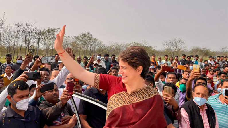 PRIYANKA GANDHI WELCOME AT ASSAM